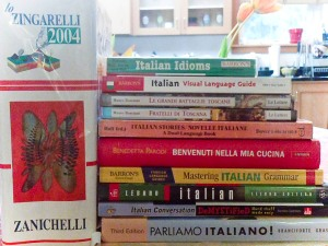 Books I recommend for studying Italian language