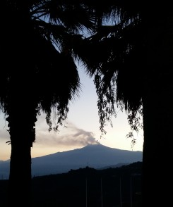 View of Etna from Taormina
